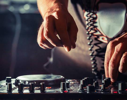 DJ mixing some tunes