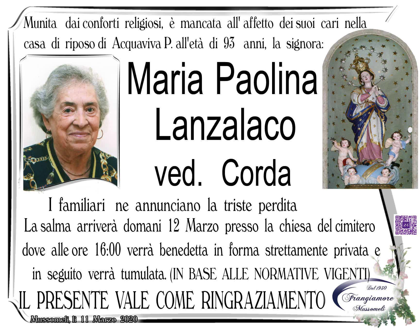 Maria Paolina Lanzalaco