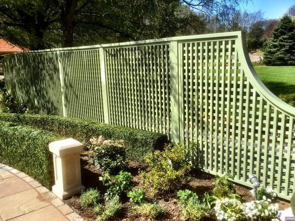 Painted Garden Trellis