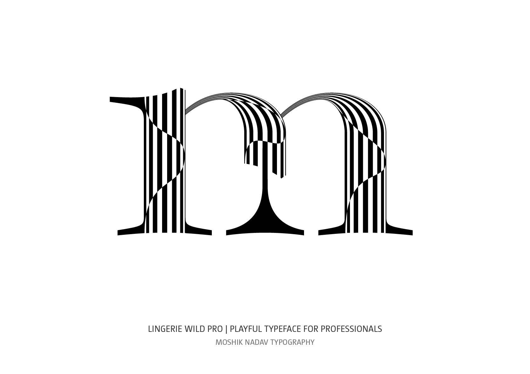 Professional typeface for fashion and luxury logos designed by Moshik Nadav Fashion Typography