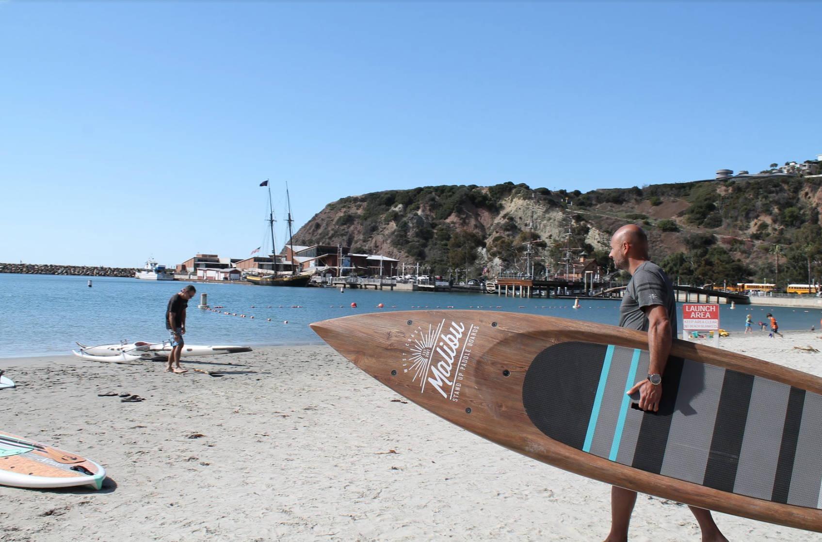 Malibu Board on the sand in Dana Point
