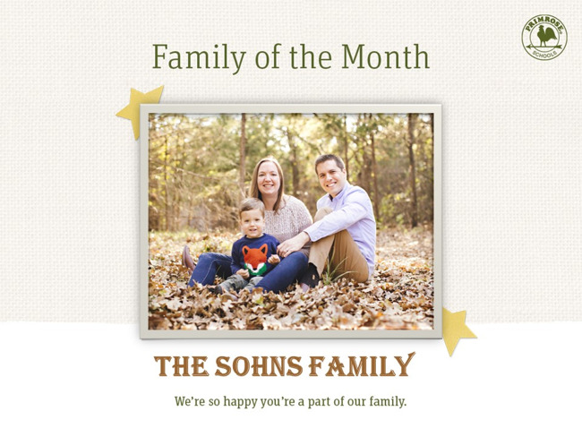 Sohns Family of the Month