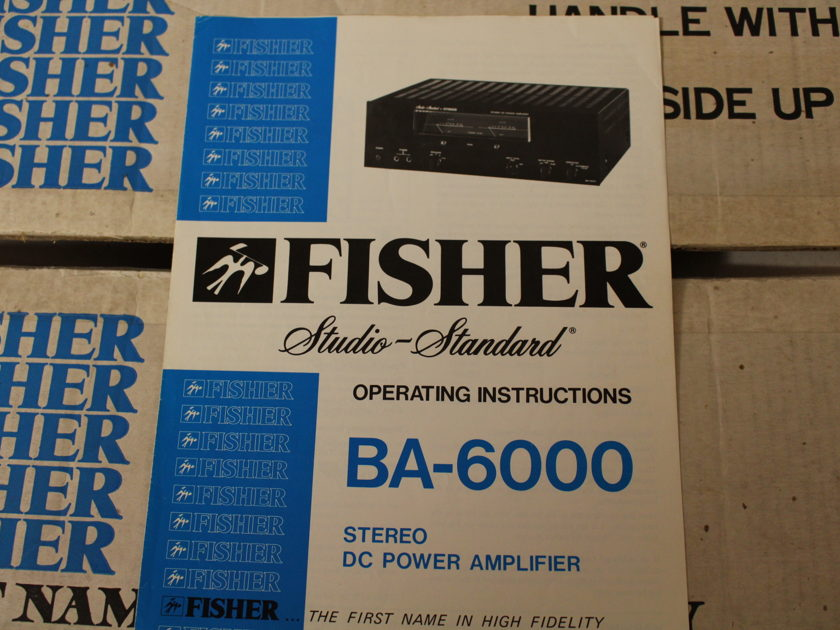 Fisher BA-6000 Stereo DC Power Amplifer