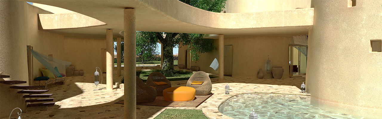 Hamburg - Luxury villa Palas in the resort Is Molas on Sardinia designed by star architect Massimiliano Fuksas.