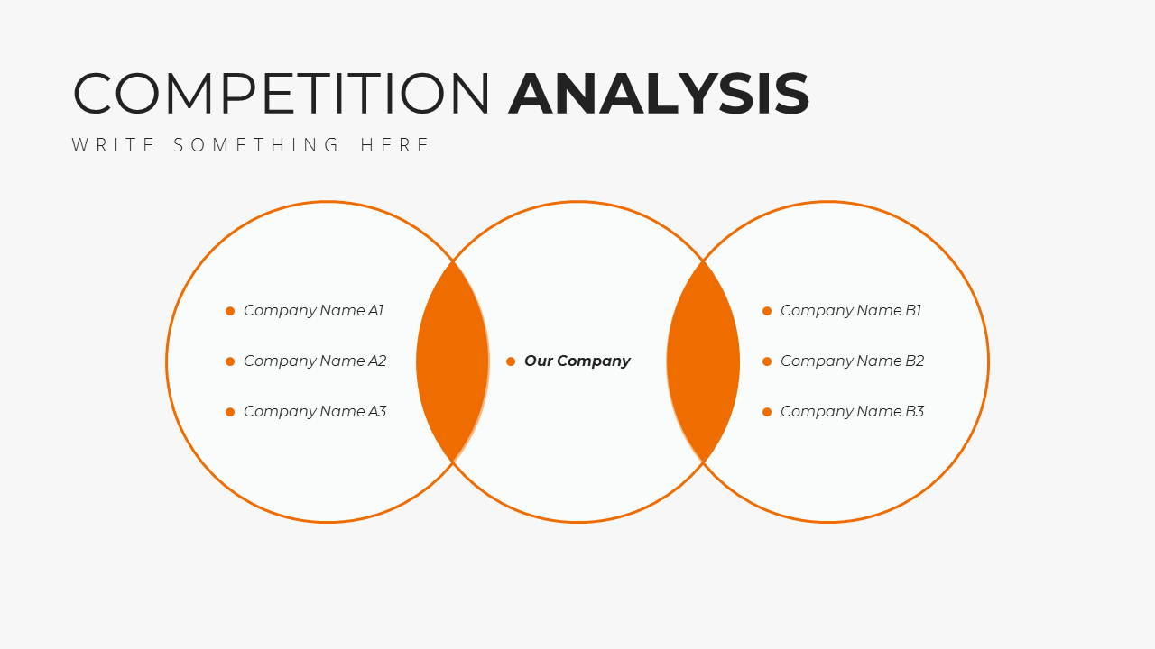 Minimal X Marketing Plan Presentation Template Competition Analysis