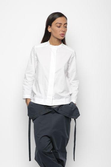 Белая рубашка с карманом