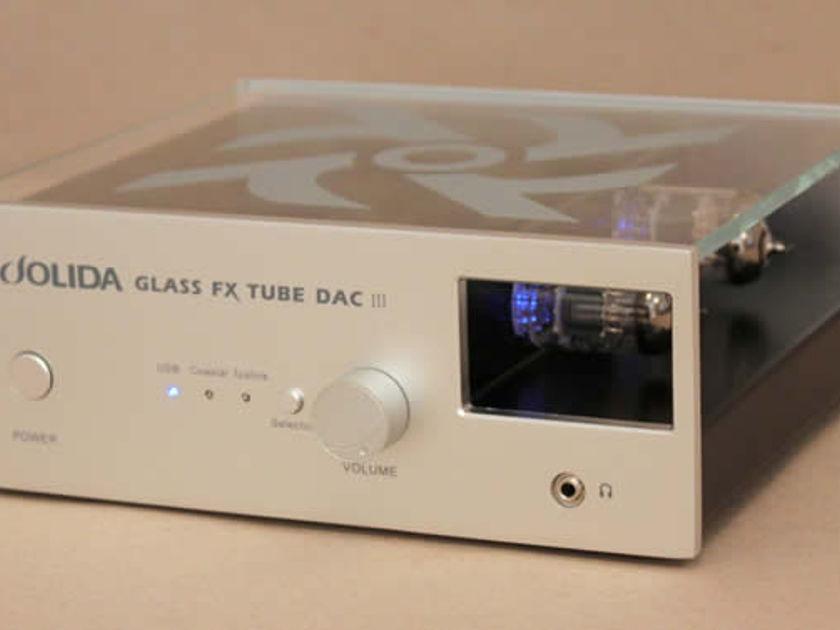 Jolida Glass FX Tube DSD DAC DSD Tube DAC/Preamp w/headphone amp