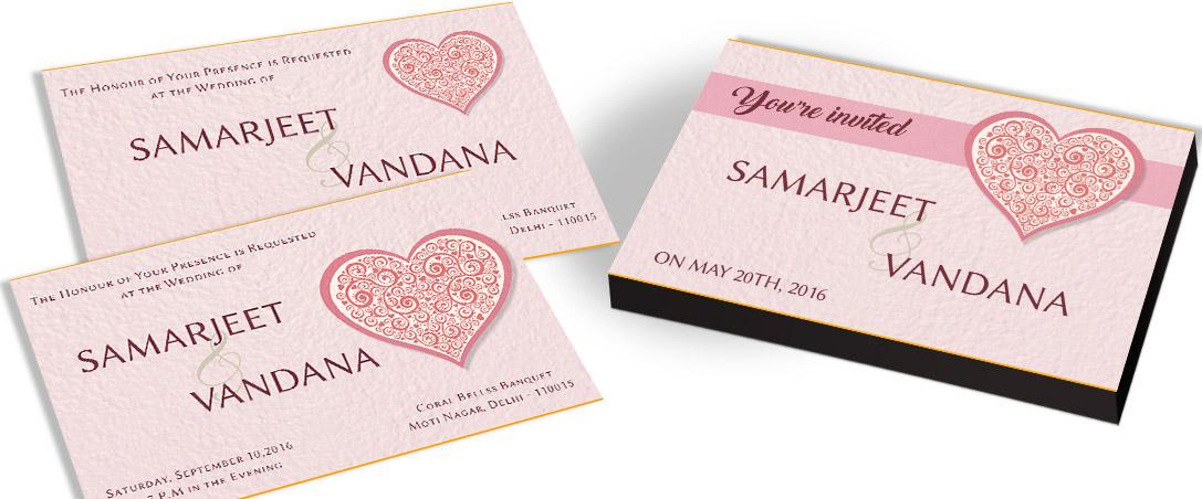 Lovely Heart Invitation for Wedding