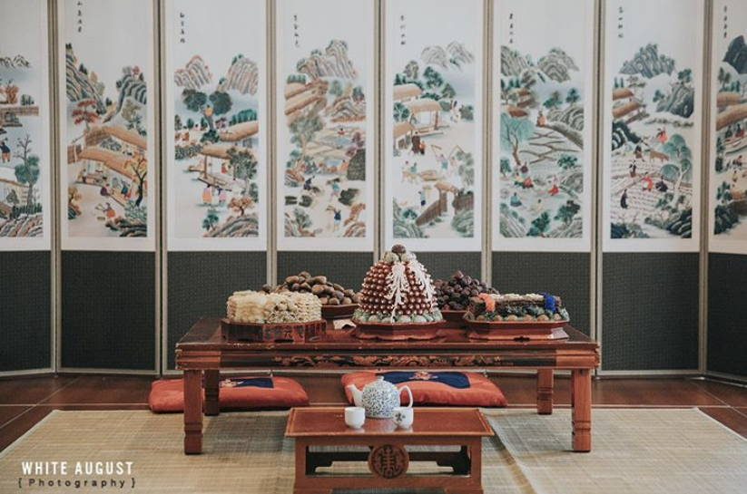 KOREAN TRADITIONAL PAEBAEK TEA CEREMONY SETUP
