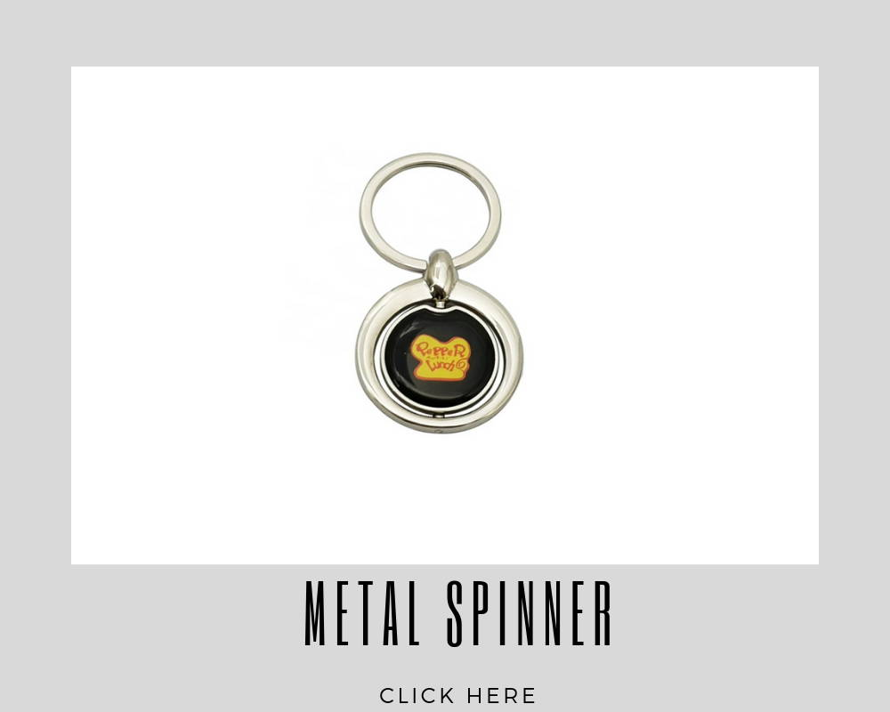Custom Metal Spinner Key Rings
