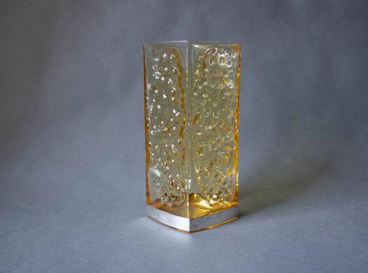 Дизайнерская ваза, модернистский хрусталь, 70е, Скандинавия