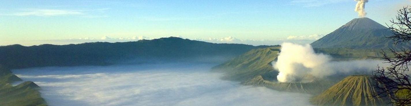 Рассвет на вулкане Бромо