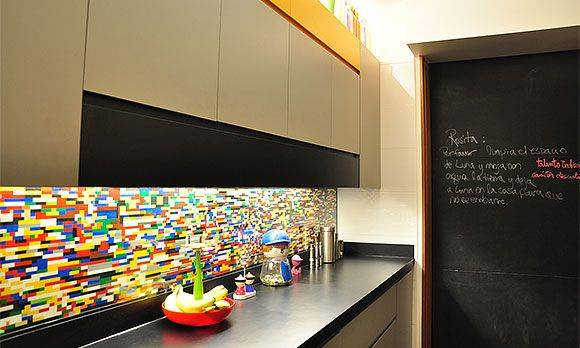 DIY LEGO Backsplash