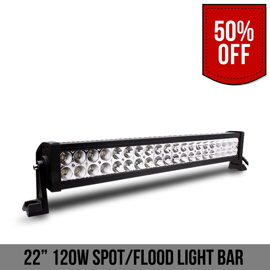 120W Spot Flood Light Bar
