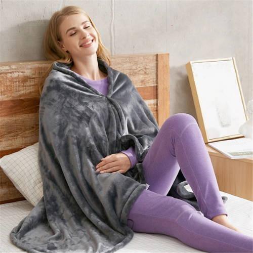 Wearable heated blanket