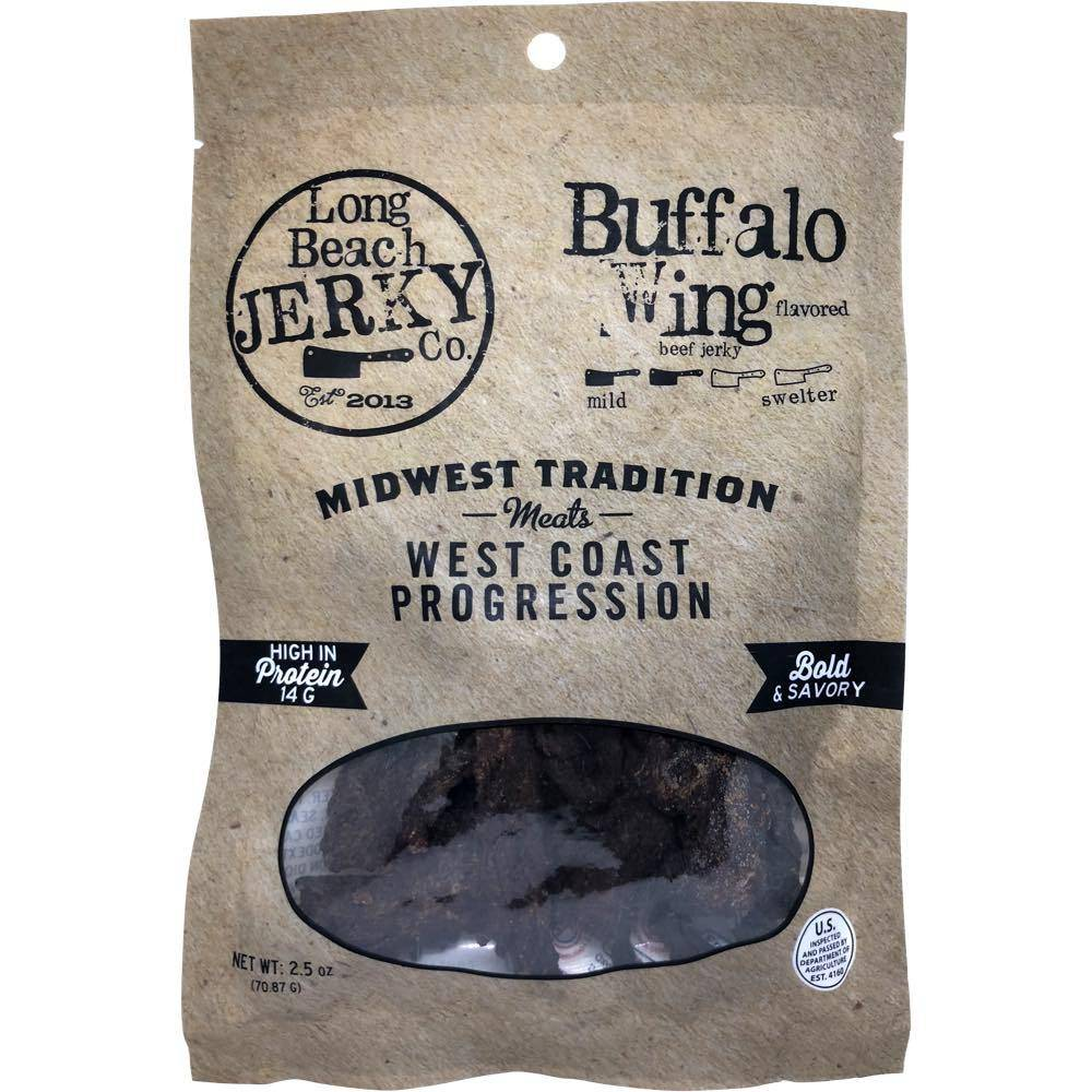 Long Beach Jerky Co Buffalo Wing Beef Jerky