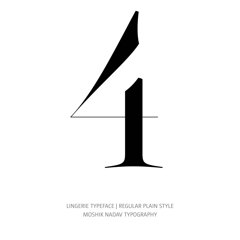 Lingerie Typeface Regular Plain 4