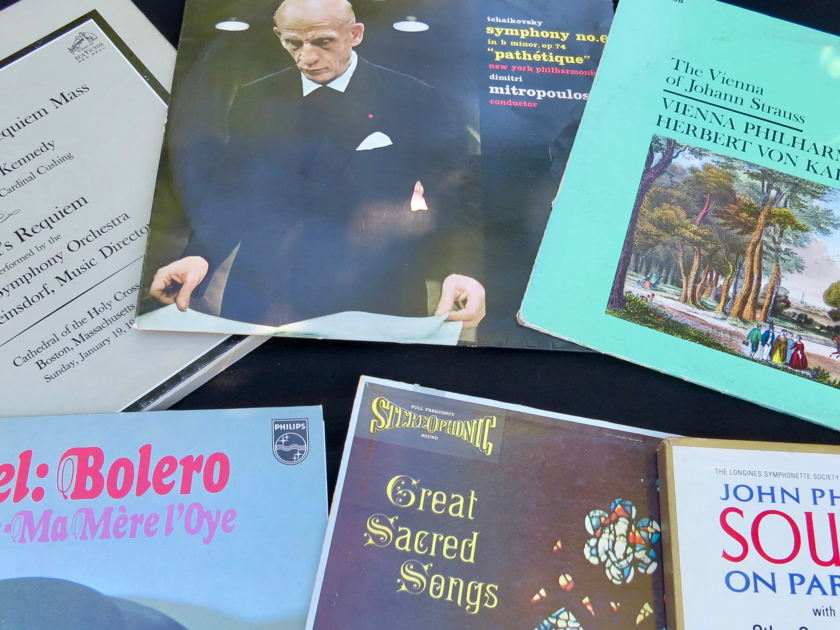 Audiophile:  35 - LPs, Fun and Cool Selection of Classical and Jazz Gems, Mostly Near Mint, Great Price!