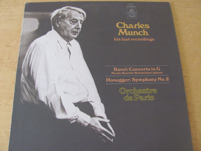 Ravel: Concerto in G & Honeggar: Symphony No. 2,  - Angel Records, Charles Munch: His Last Recordings,  Orchestre de Paris, NM