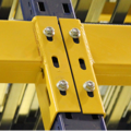 Unarco T Bolt Racking Blue and Yellow