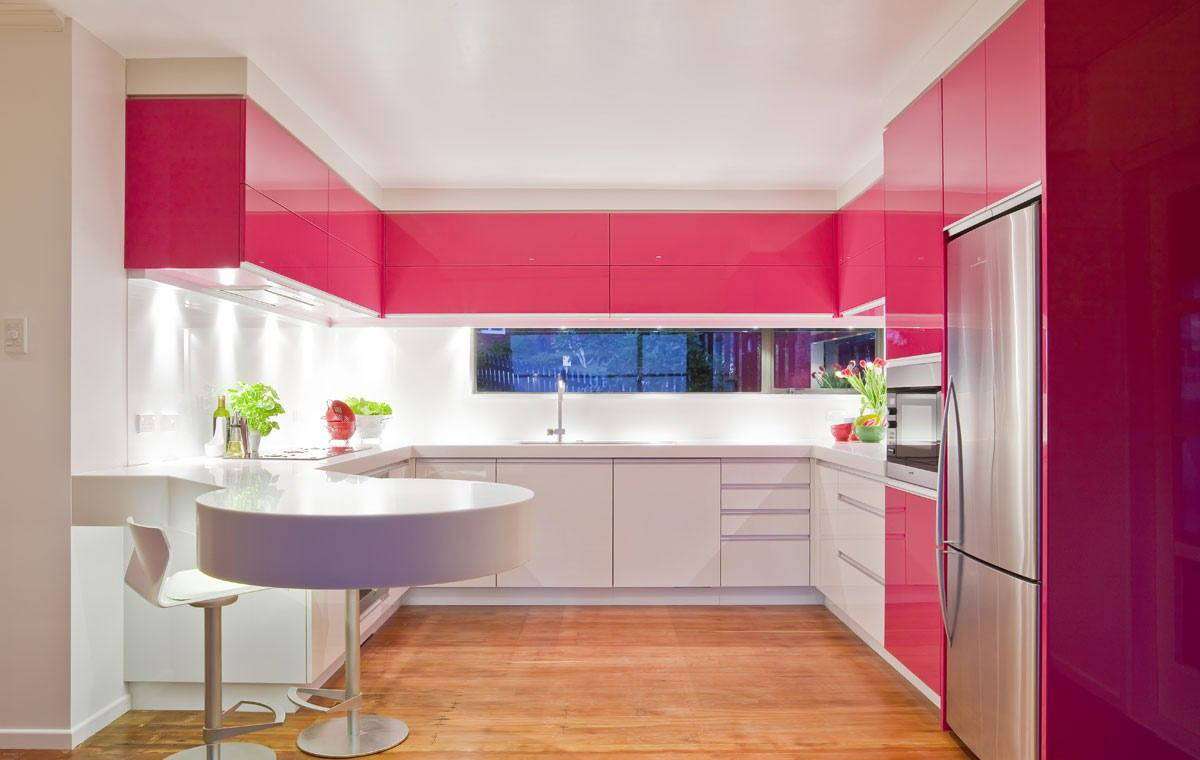 High gloss kitchen cabinet laminates