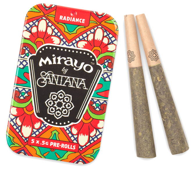 image of Mirayo sativa cannabis tin and joints