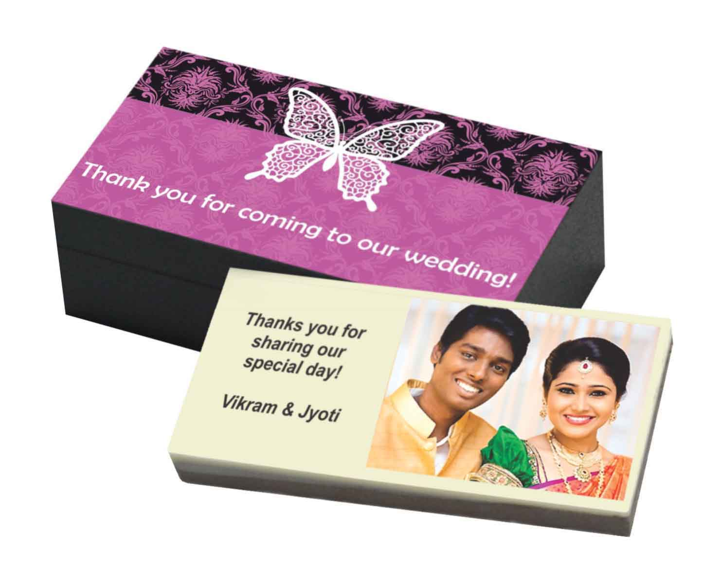 Wedding Return Gift Ideas: Customized Printed Chocolate Bars For Wedding Return Gifts