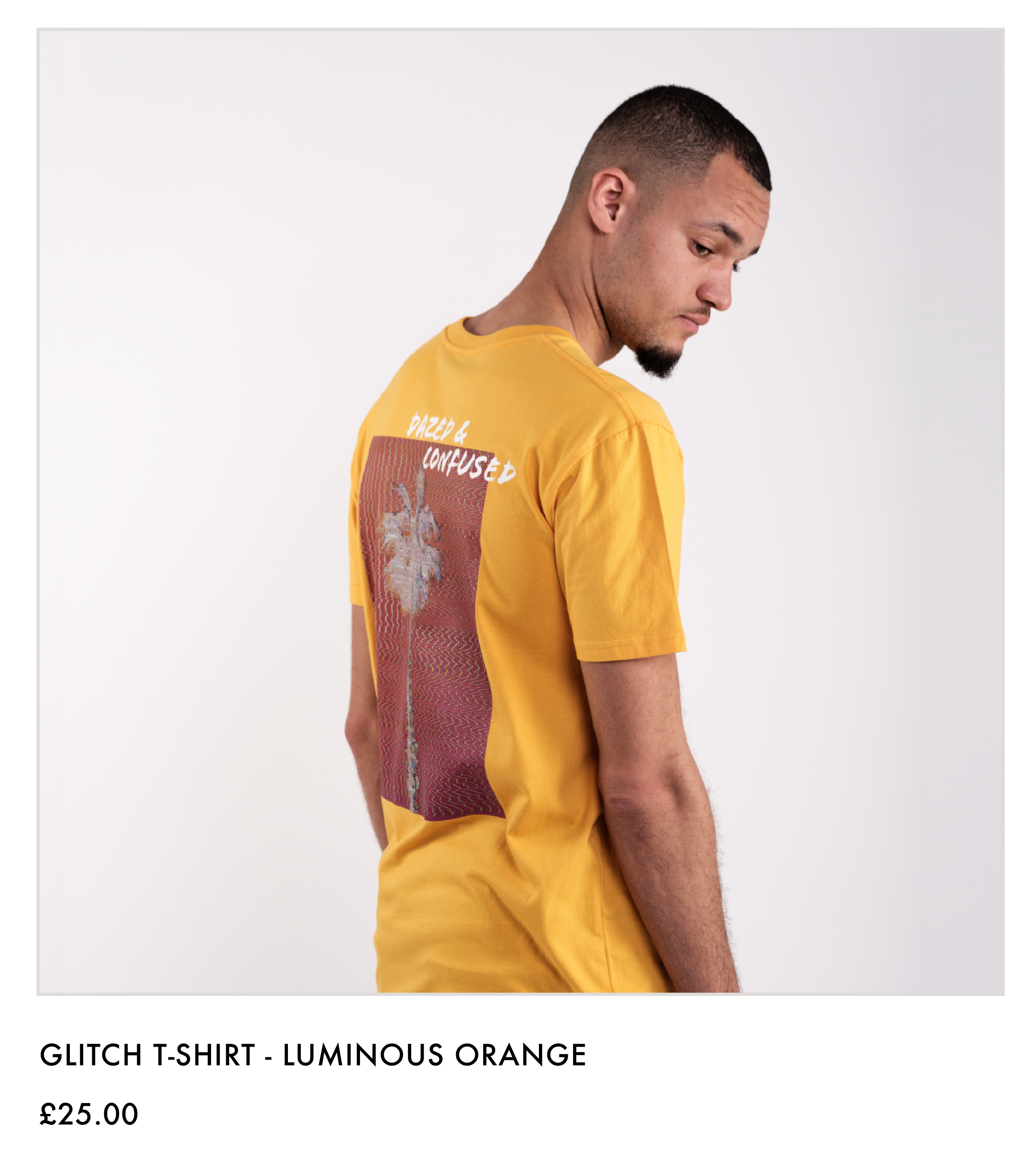 Glitch T-shirt - Luminous Orange