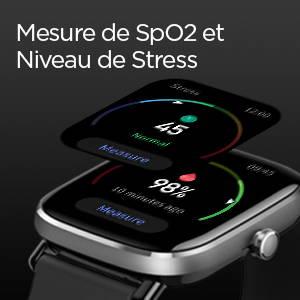 Amazfit GTS 2 mini - SpO2 et Mesure du Niveau de Stress