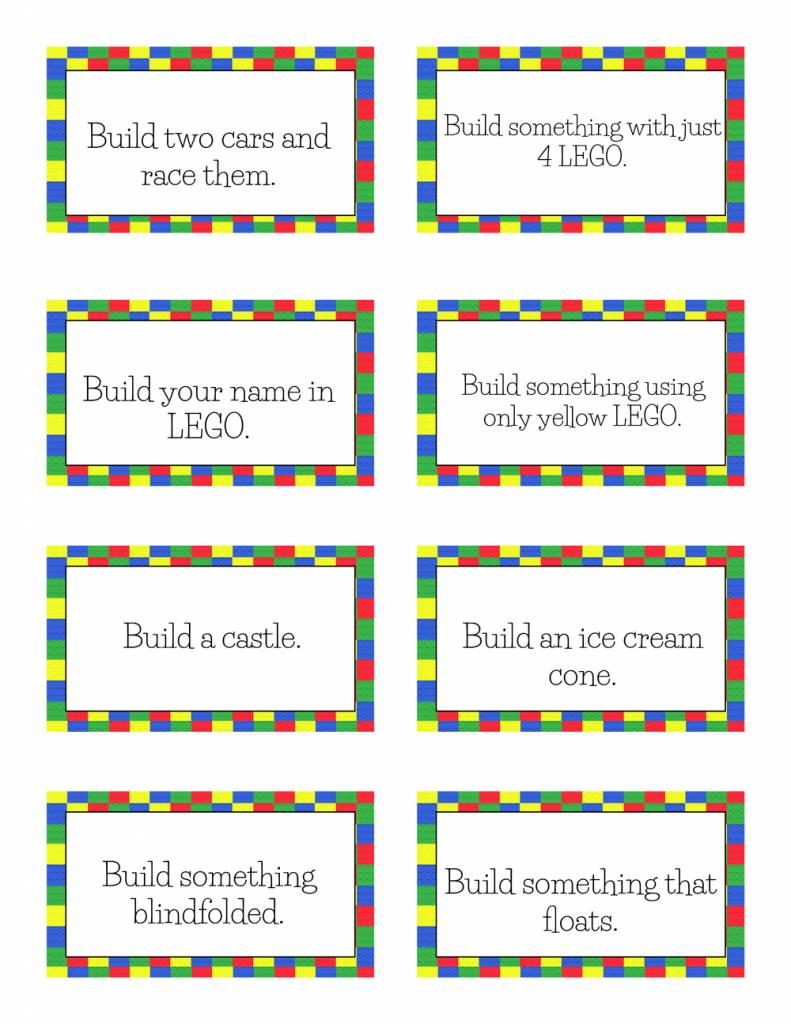 lego building challen ge