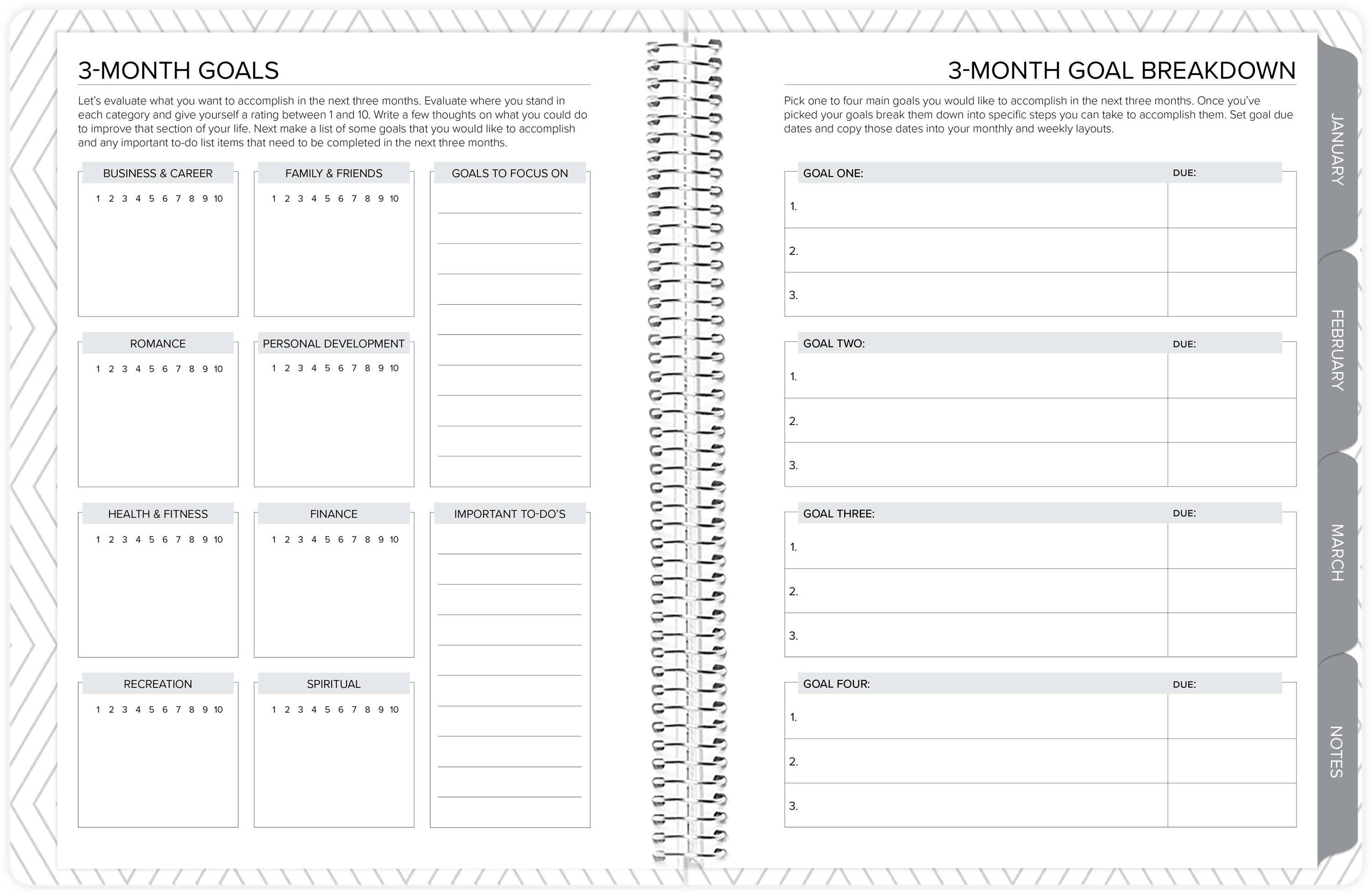 amplify planner goal setting pages