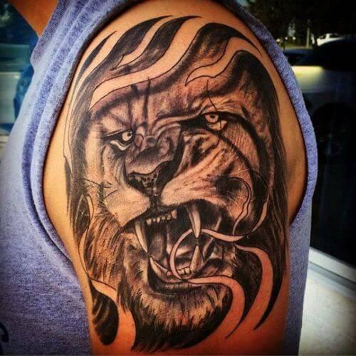 Tatouage Tete De Lion