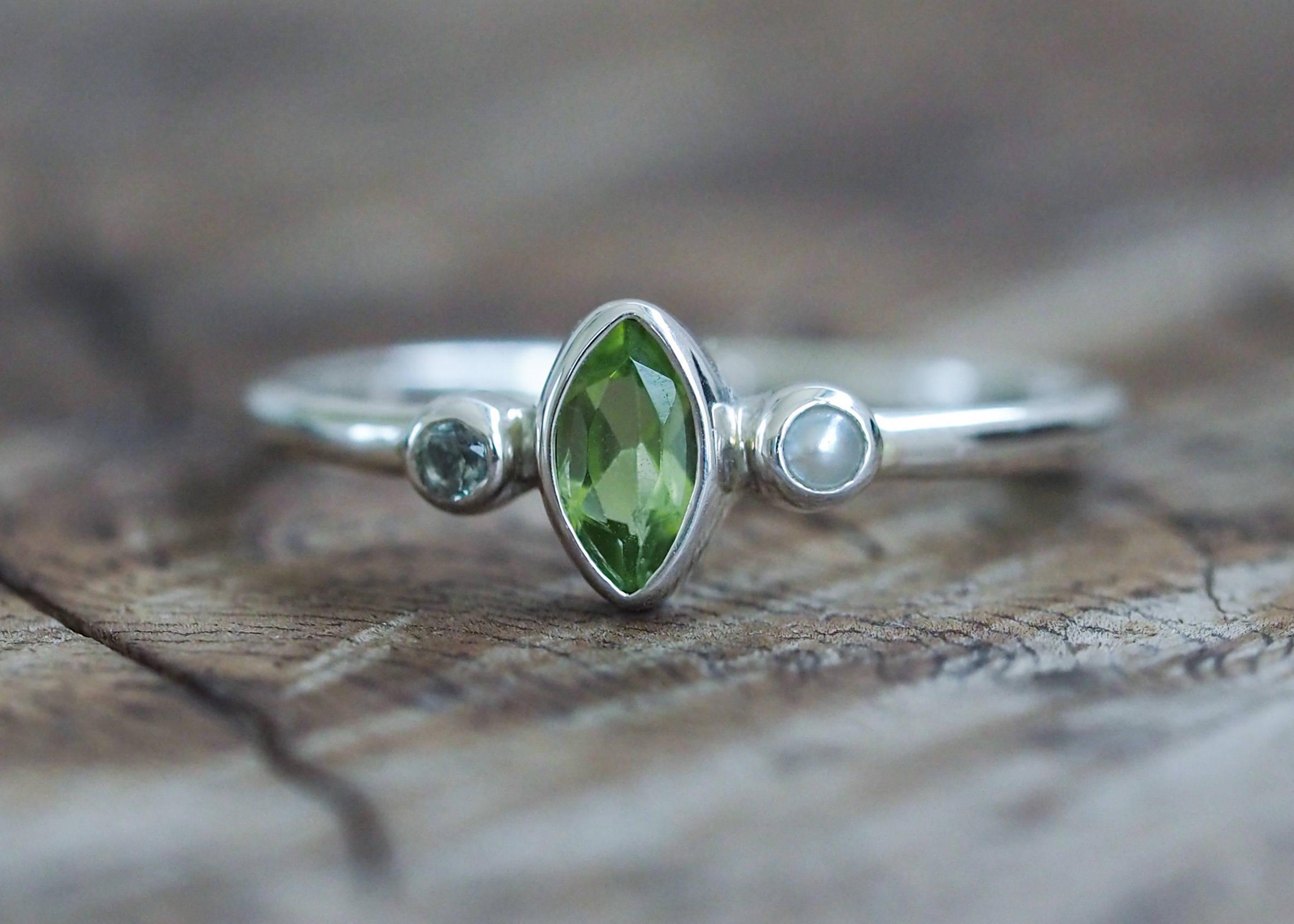 Custom Triple Birthstone Ring