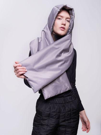 Капюшон непромокаемый утепленный с шарфом