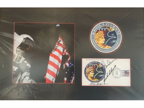 FRAMED & SIGNED APOLLO 17 ANNIVERSARY COVER