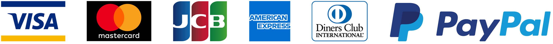 VISA・MasterCard・JCB・American Express・Diners Club・PayPal