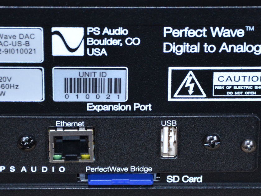 PS Audio Perfect Wave DAC Mark II, $800.00 Ethernet Bridge Included Like New All Packages
