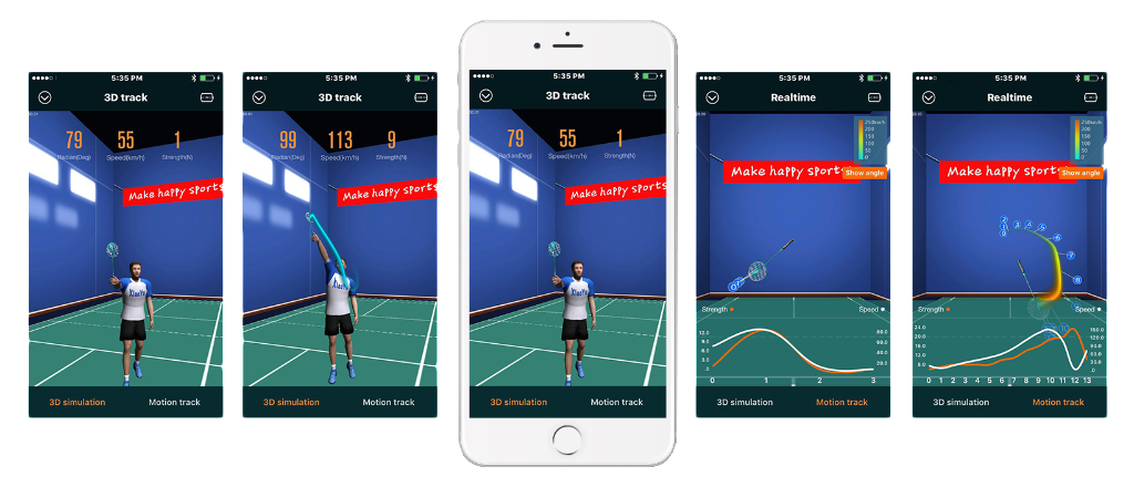 Actofit Badminton Pod 3D Real Time Tracking