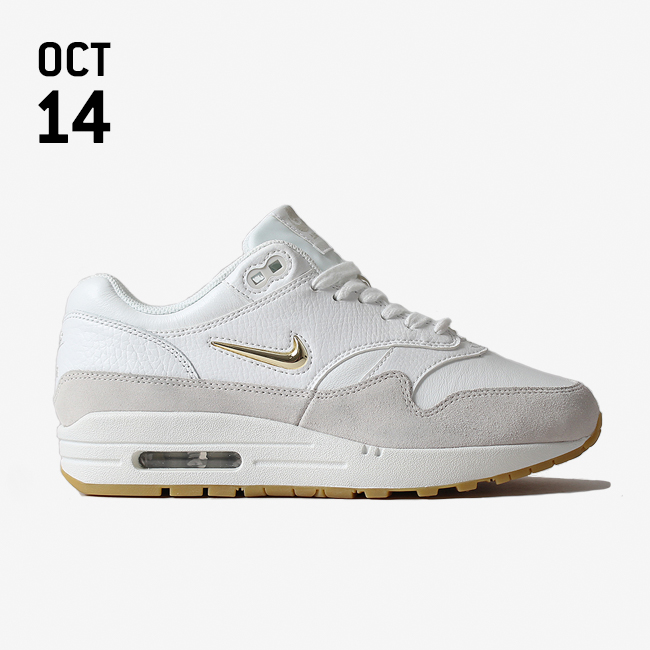 best cheap ece02 9359d NIKE AIR MAX 1 PREMIUM SC SHOE - SUMMIT WHITEMETALLIC GOLD STAR-LIGHT BONE