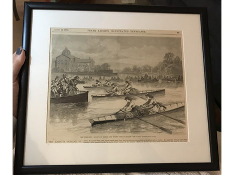 1871 Frank Leslie's Illustration - Women Rowing