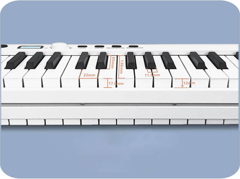 piano keyboard with weighted keys, 88 key keyboard, touch response keyboard