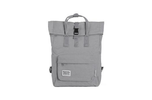 Серый плоский рюкзак роллтоп