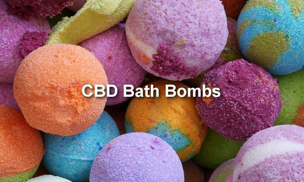 CBD Bath Bombs in differen Colors