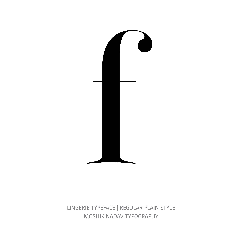 Lingerie Typeface Regular Plain f