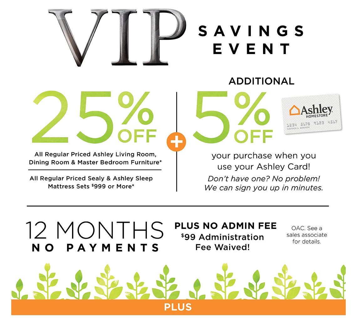 VIP Savings Events