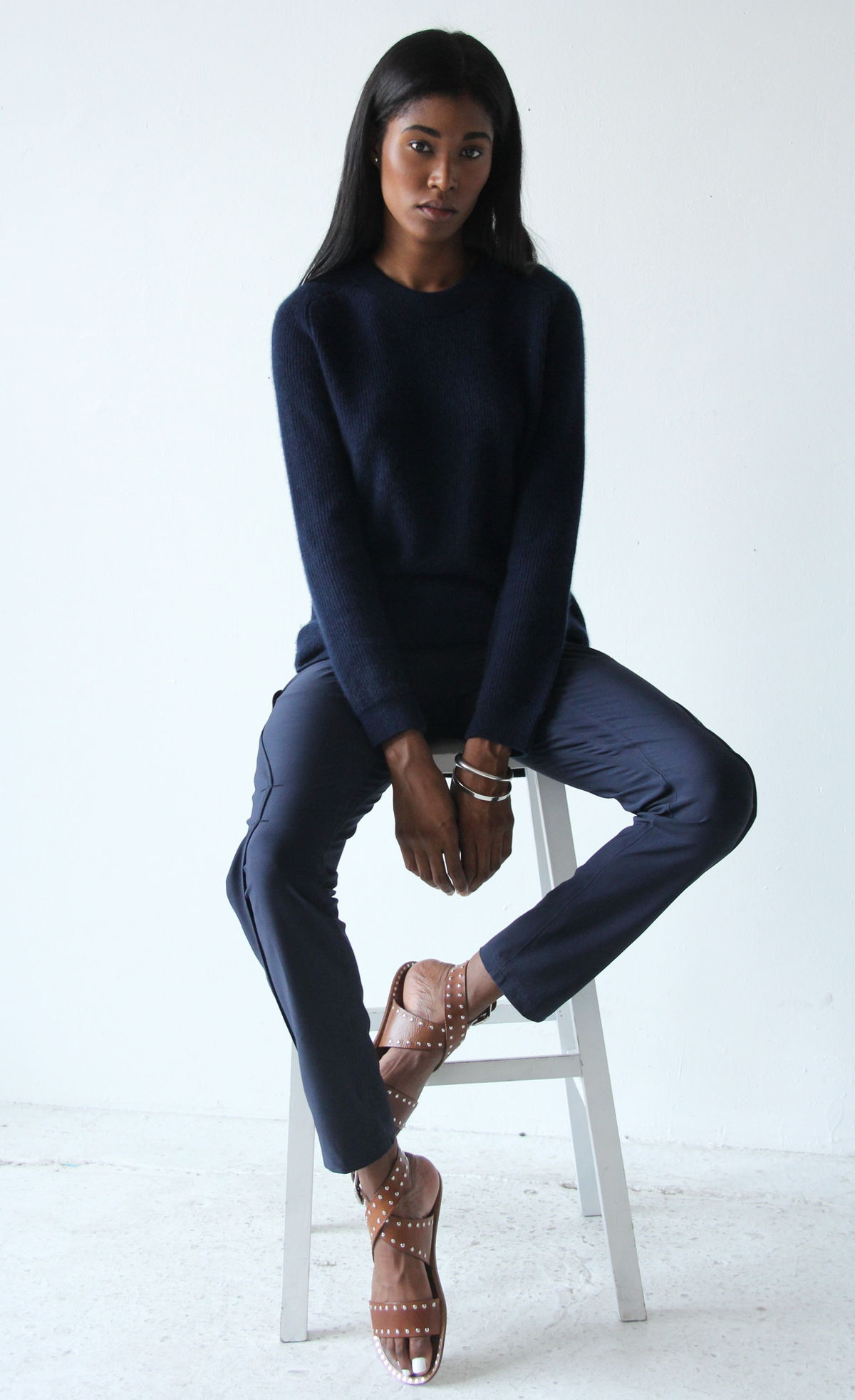 PURITY - GO ANYWHERE ELEGANT EXCEPTIONALLY COMFORTABLE PANT PANT NAVY