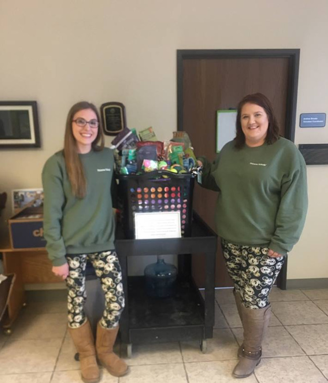 Our Preschool Pathways teachers delivering their Pet basket to the Adams County Shelter!