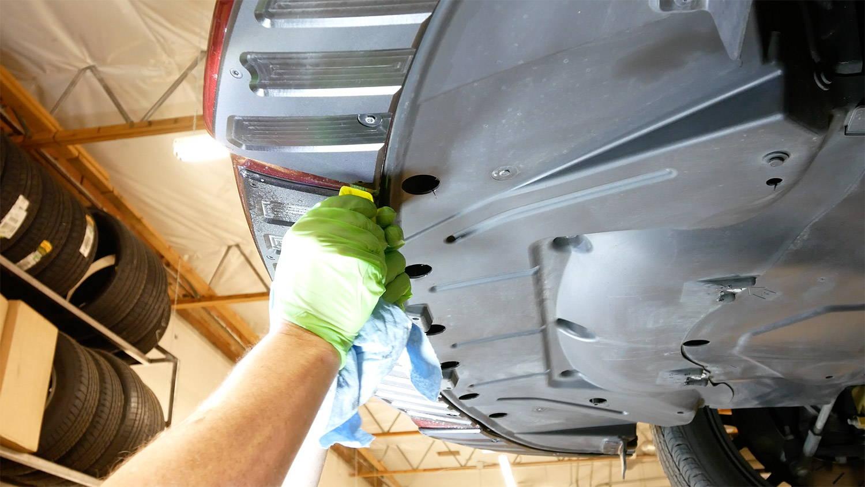 Scrape Armor precision skid plate installation.
