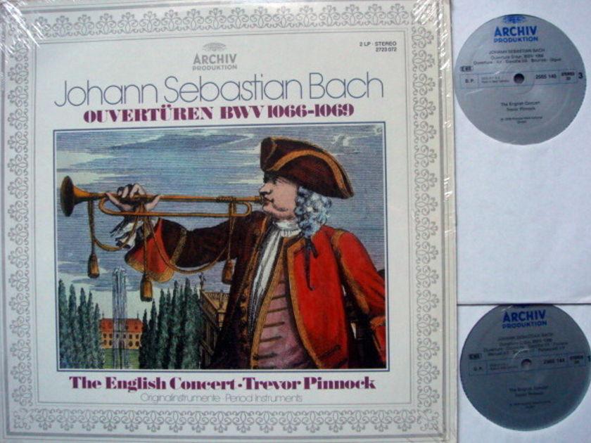 Archiv / PINNOCK, - Bach Complete Suites for Orchestra, MINT, 2 LP Set!