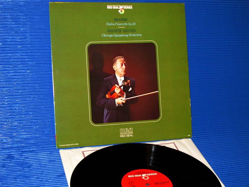 """BRAHMS / Reiner / Heifetz   - """"Violin Concerto in D"""" -  RCA .5 Audiophile Series 1983"""